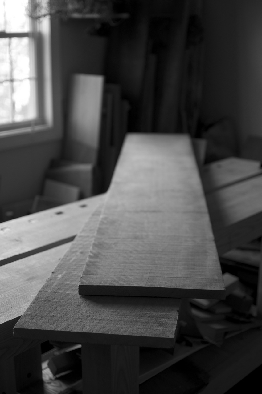 Two rough cherry boards