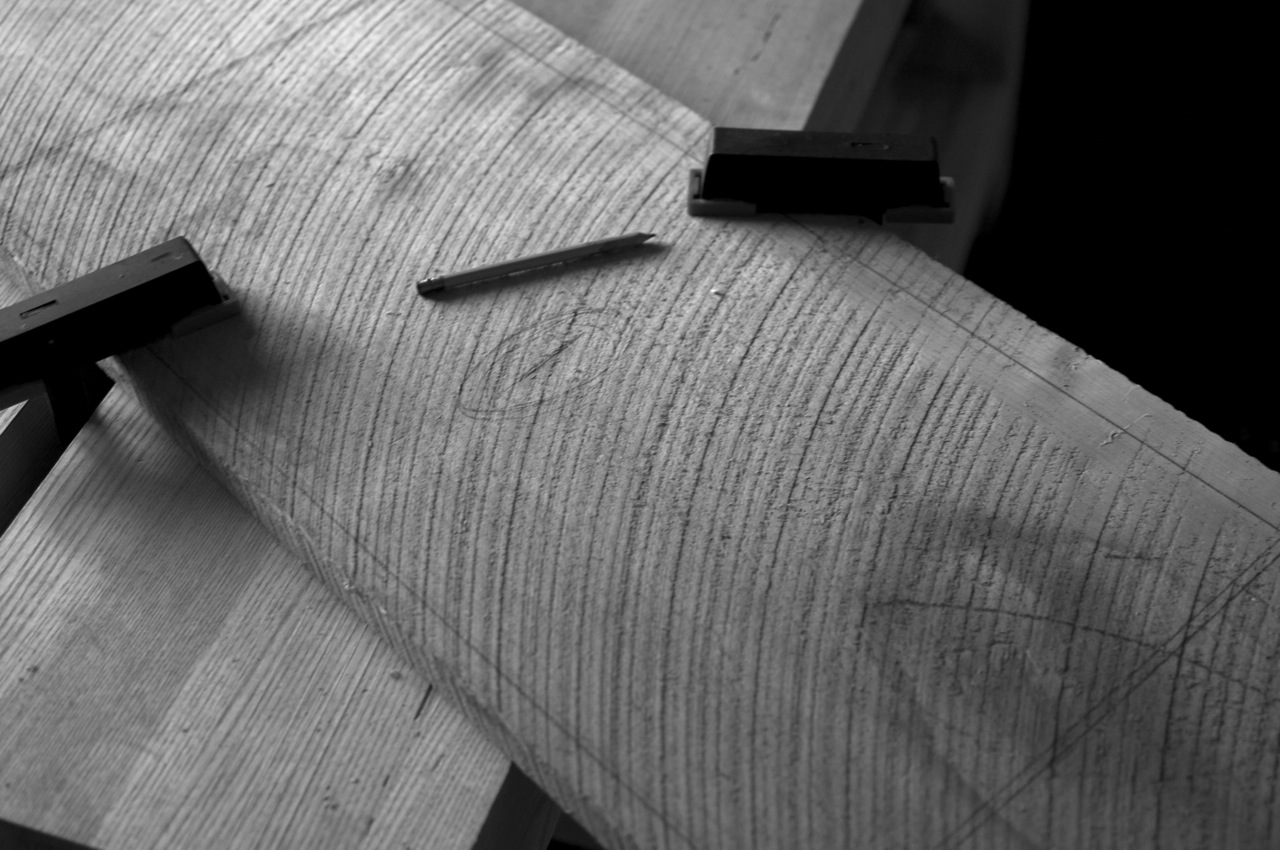 Laying out parts on rough lumber