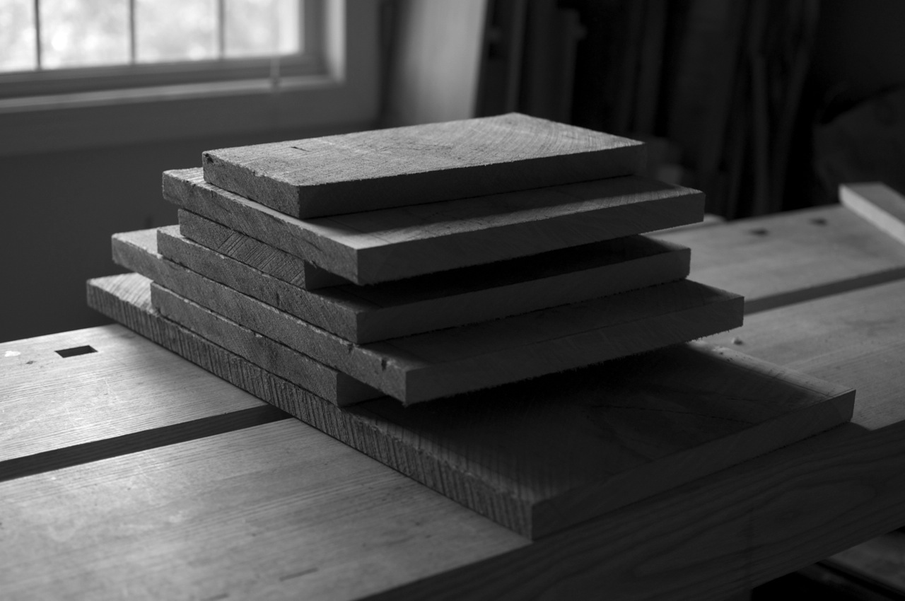 Stack of rough-sawn parts