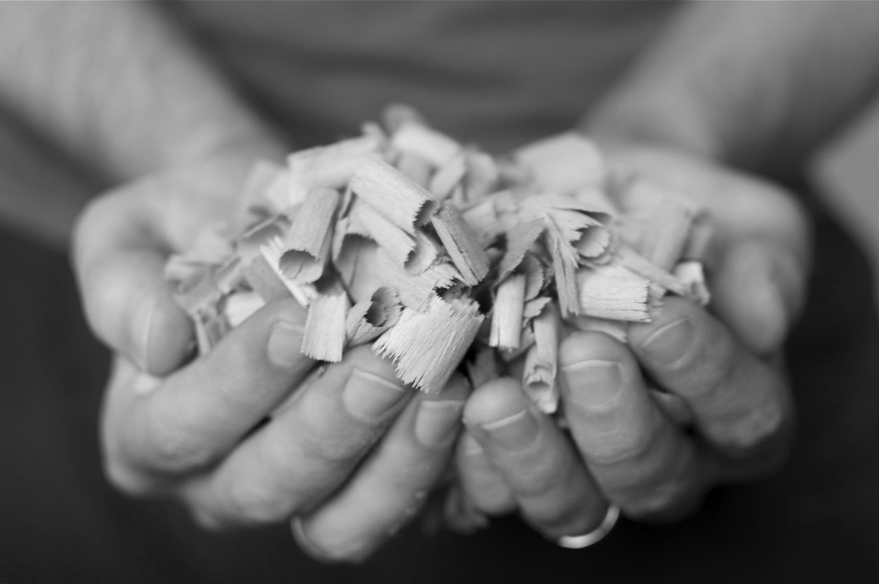 A handful of shavings