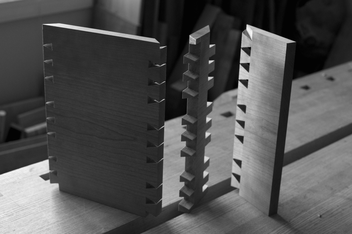 Angled dovetails come to a point